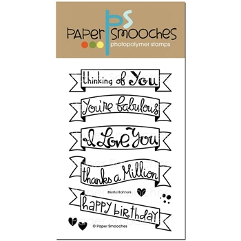 Paper Smooches BLISSFUL BANNERS Clear Stamps