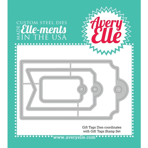 Avery Elle Steel Dies GIFT TAGS Elle-Ments D-14-16 or 021525 Preview Image