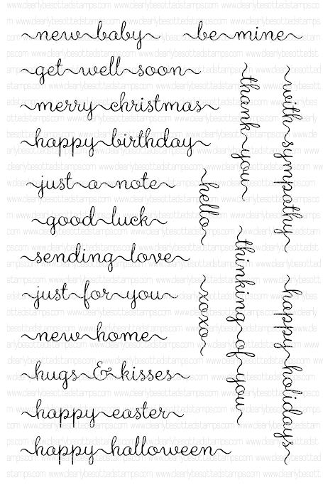 Clearly Besotted SWEET LITTLE SENTIMENTS Clear Stamps  zoom image