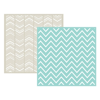 Lifestyle Crafts CHEVRON Embossing Folders 03715-6