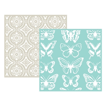 Lifestyle Crafts BUTTERFLY Embossing Folders 03710-1