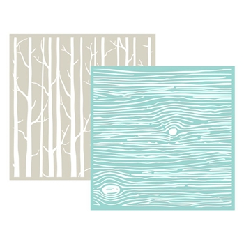 Lifestyle Crafts WOOD GRAIN Embossing Folders 03718-7