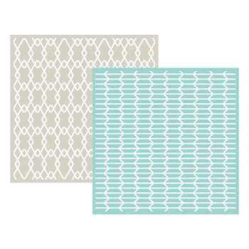 Lifestyle Crafts GEO Embossing Folders 03711-8*