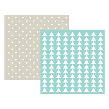 Lifestyle Crafts TRIANGLE Embossing Folders 03713-2*