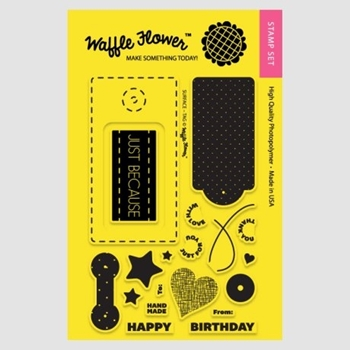Waffle Flower SURFACE TAG Clear Stamp Set 271005