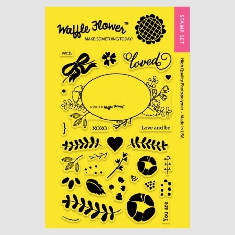 Waffle Flower LOVED Clear Stamp Set WFS107 zoom image