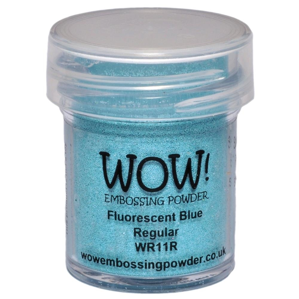 Wow Embossing Powder FLUORESCENT BLUE REGULAR WR11R zoom image