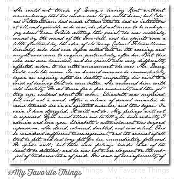 My Favorite Things ROMANTIC SCRIPT Background Cling Stamp MFT zoom image