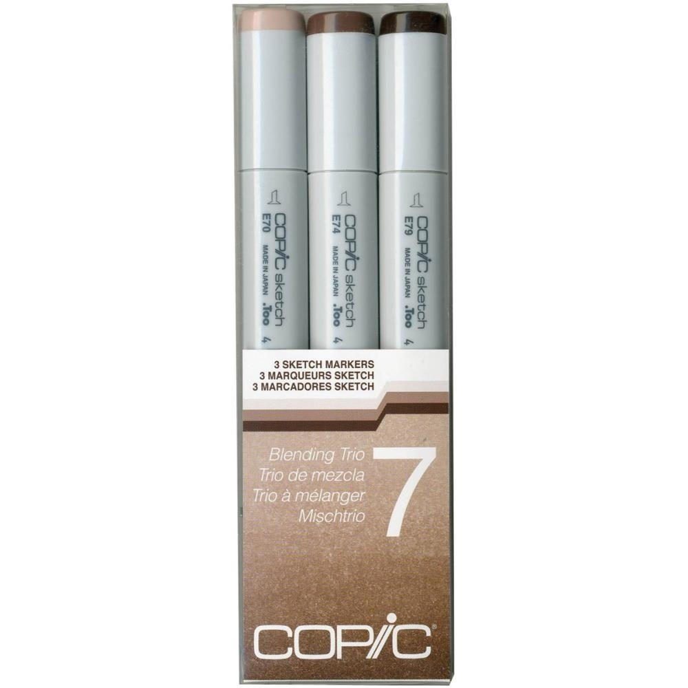 Copic Sketch Marker BLENDING TRIO 7 Set Seven 53515 zoom image