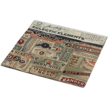 Tim Holtz Fabric Eclectic Elements 16764 FABRIC CRAFTING PACK 8PC 12x12