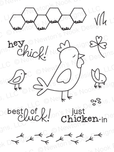 Newton's Nook Designs CHICKEN SCRATCHES Clear Stamp Set 20140601
