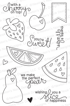 Newton's Nook Designs SWEET SUMMER Clear Stamp Set 20140602 zoom image