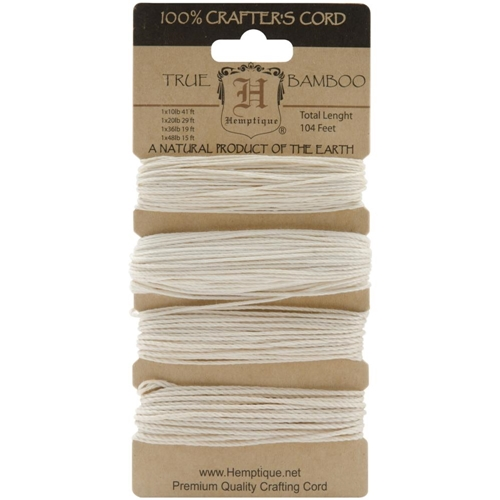 Hemptique NATURAL Bamboo Cord Set