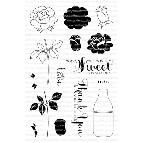 Clearly Besotted SWEET ROSE Clear Stamp Set*  Preview Image