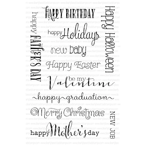 Clearly Besotted ALL OCCASION SENTIMENTS Clear Stamp Set * Preview Image