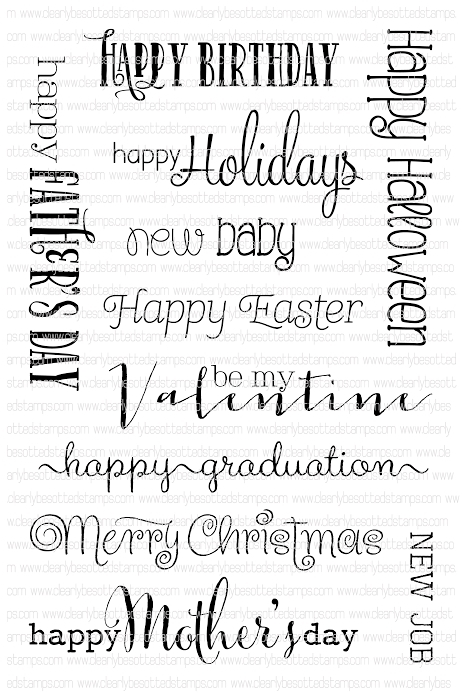 Clearly Besotted ALL OCCASION SENTIMENTS Clear Stamp Set * zoom image