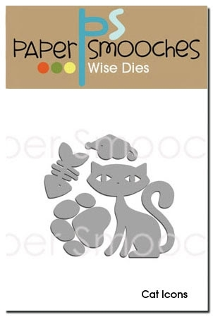 Paper Smooches CAT ICONS Wise Dies Preview Image