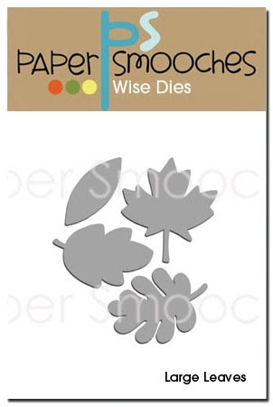 Paper Smooches LARGE LEAVES Wise Dies Preview Image
