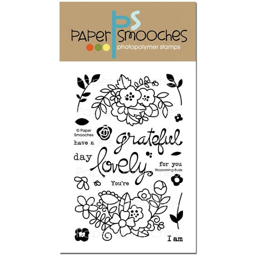 Paper Smooches BLOSSOMING BUDS Clear Stamps Preview Image