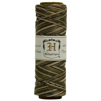 Hemptique VARIEGATED EARTHY 10lb Hemp Cord Twine 093875*