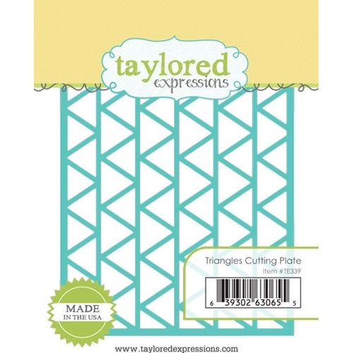 Taylored Expressions TRIANGLES CUTTING PLATE Die TE339* Preview Image