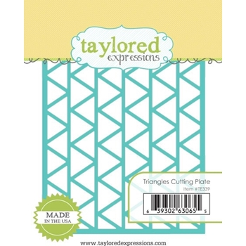 Taylored Expressions TRIANGLES CUTTING PLATE Die TE339*