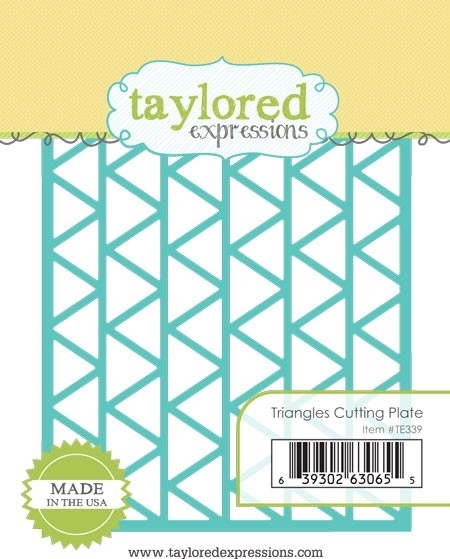 Taylored Expressions TRIANGLES CUTTING PLATE Die TE339* zoom image
