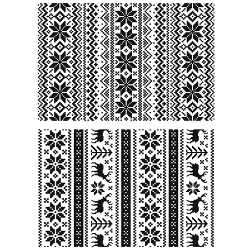 Tim Holtz Cling Rubber Stamps HOLIDAY KNITS CMS206 Preview Image