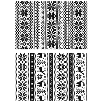 Tim Holtz Cling Rubber Stamps HOLIDAY KNITS CMS206