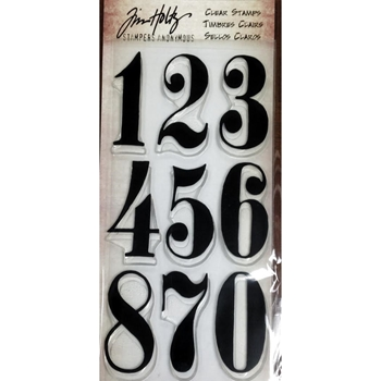 Tim Holtz Visual Artistry BIG NUMBERS Clear Stamp Set CSS41863