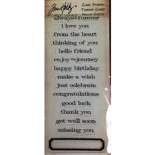Tim Holtz Visual Artistry JUST SAYINGS Clear Stamp Set CSS31727  Preview Image