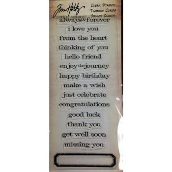 Tim Holtz Visual Artistry JUST SAYINGS Clear Stamp Set CSS31727