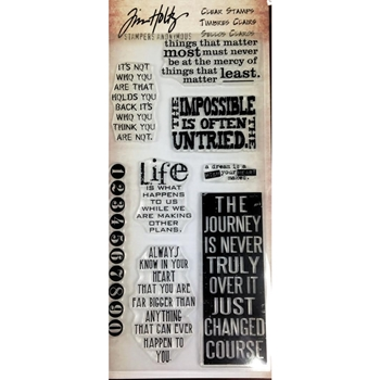 Tim Holtz Visual Artistry THOUGHTS & PHRASES Clear Stamp Set CSS41856