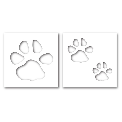 Simon Says Stamp Stencils PAWPRINT ssst121356 This is the Life Preview Image