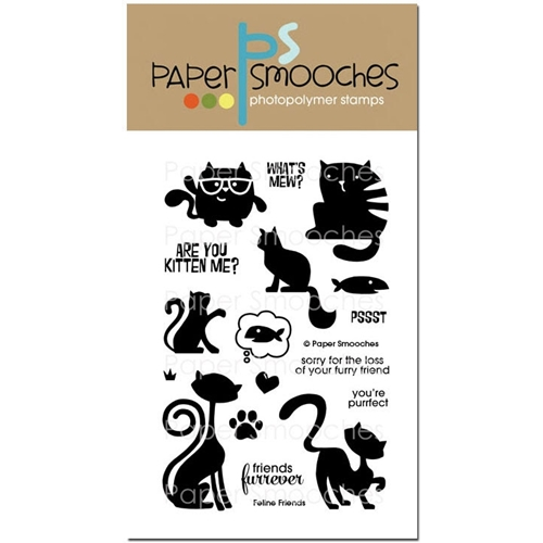 Paper Smooches FELINE FRIENDS Clear Stamps Preview Image