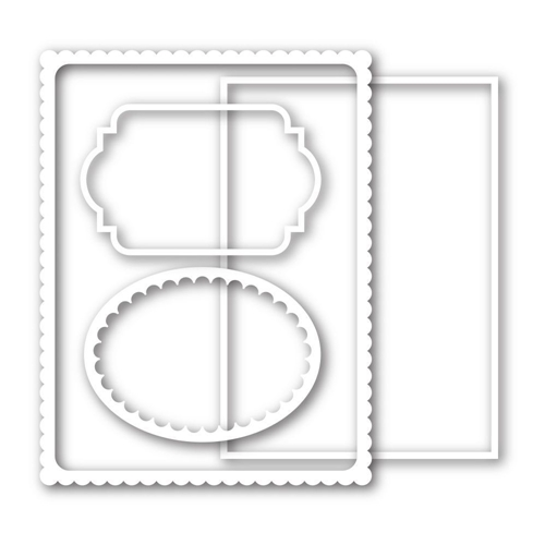 Simon Says Stamp FRAMES Wafer Dies sssd111373 This is the Life Preview Image