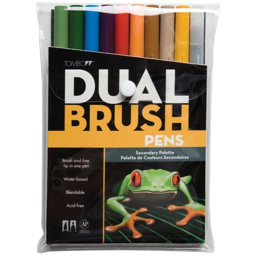 Tombow SECONDARY Dual Brush Pens 10 Pack 56168 Preview Image