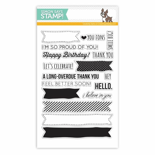 Simon Says Clear Stamps MORE SKETCHY BANNER GREETINGS sss101410 * Preview Image