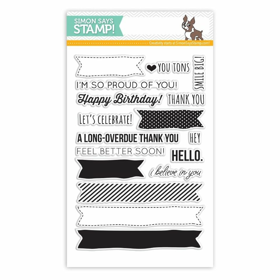 Simon Says Clear Stamps MORE SKETCHY BANNER GREETINGS sss101410 * zoom image