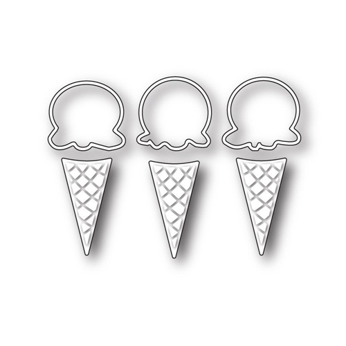 Simon Says Stamp ICE CREAM CONES Craft Dies s233 This is the Life Preview Image
