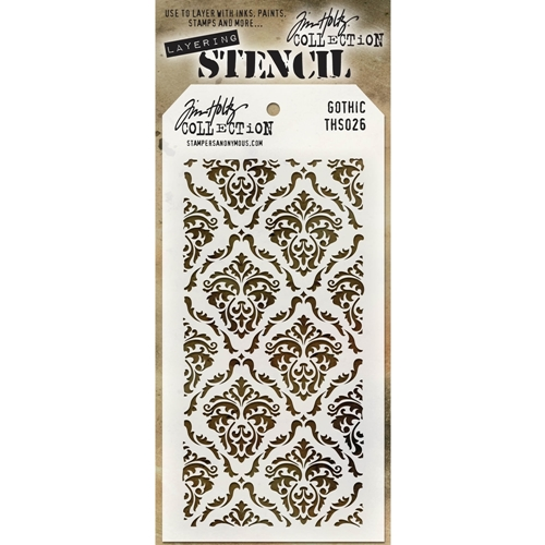 Tim Holtz Layering Stencil GOTHIC THS026 Preview Image