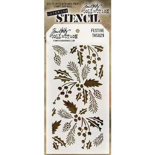 Tim Holtz Layering Stencil FESTIVE THS029 Preview Image