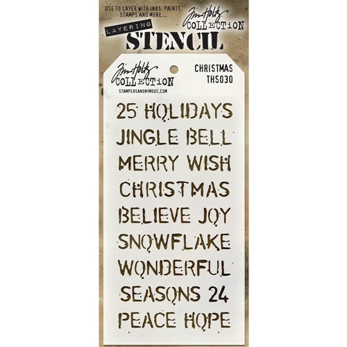 Tim Holtz Layering Stencil CHRISTMAS THS030 Preview Image