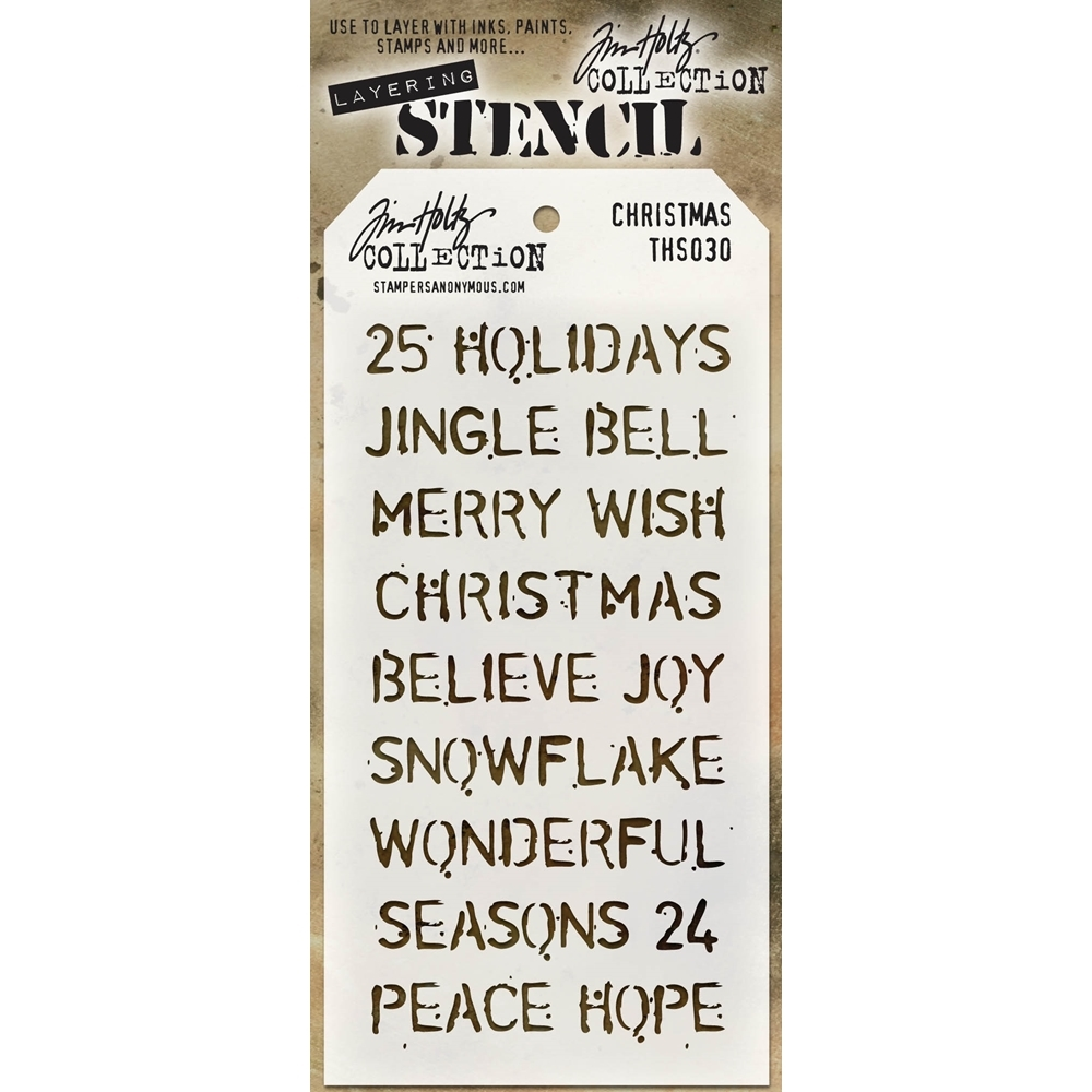 Tim Holtz Layering Stencil CHRISTMAS THS030 zoom image