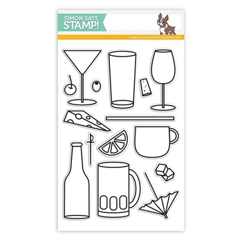 Simon Says Clear Stamps ADULT BEVERAGES sss101412