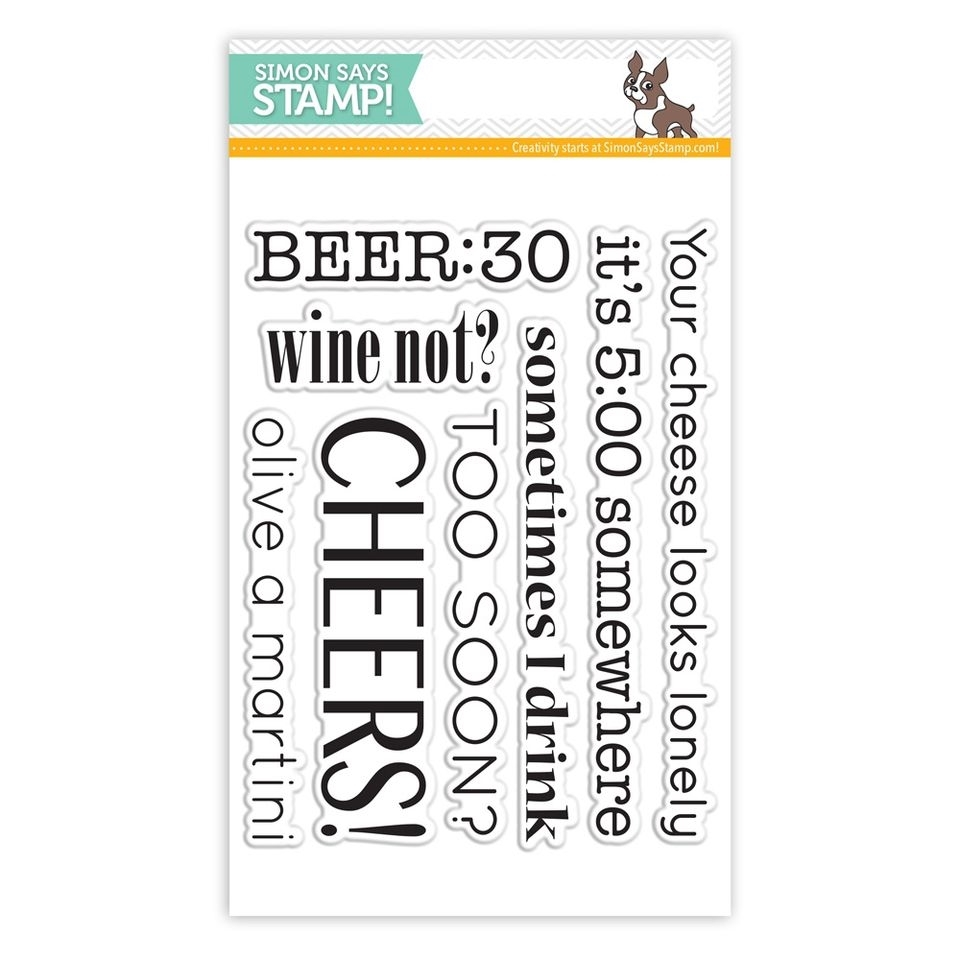 Simon Says Clear Stamps ADULT BEVERAGE SAYINGS sss101417 This is the Life zoom image