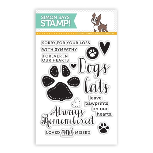 Simon Says Clear Stamps PAWPRINTS ON OUR HEARTS sss101425 This is the Life Preview Image