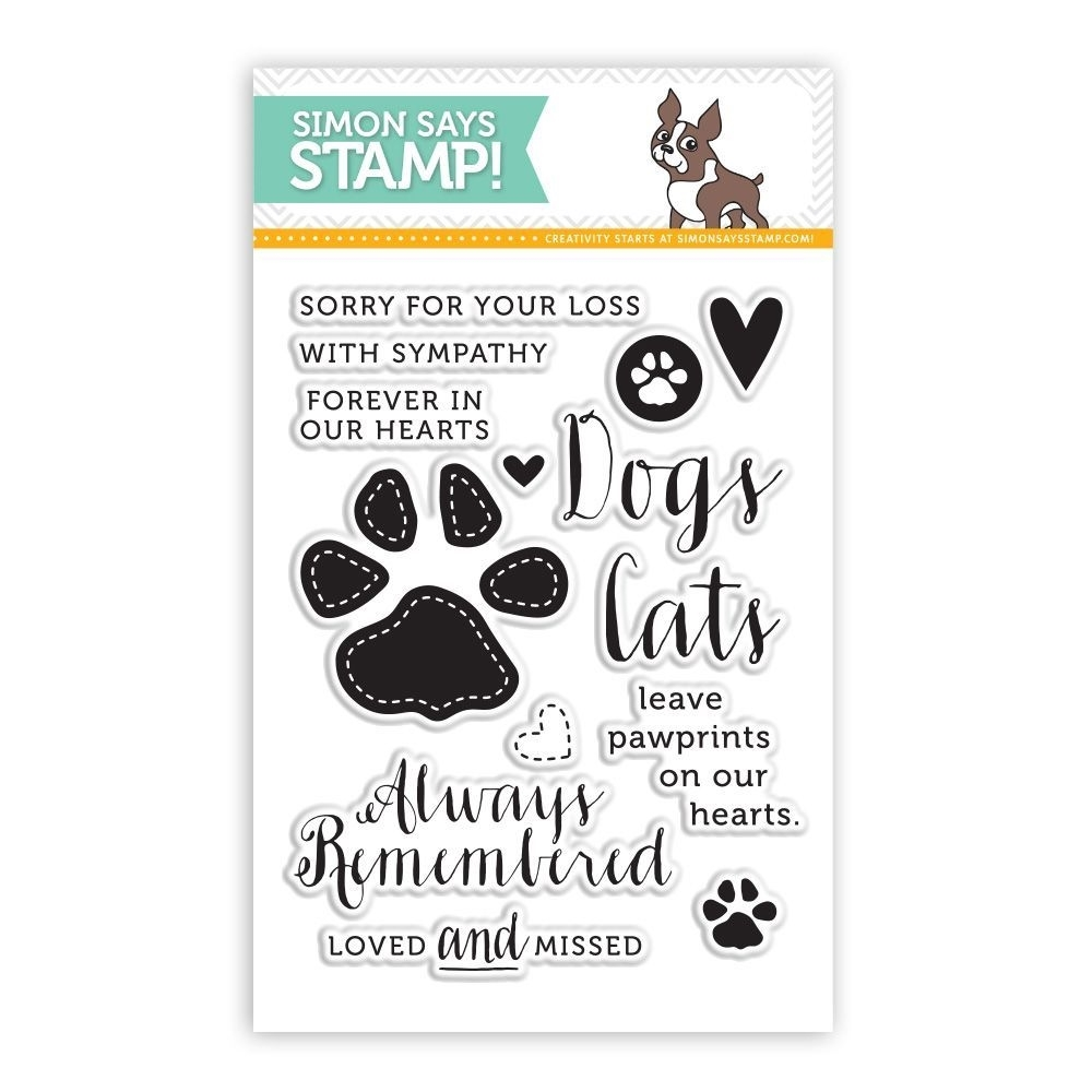 Simon Says Clear Stamps PAWPRINTS ON OUR HEARTS sss101425 This is the Life zoom image