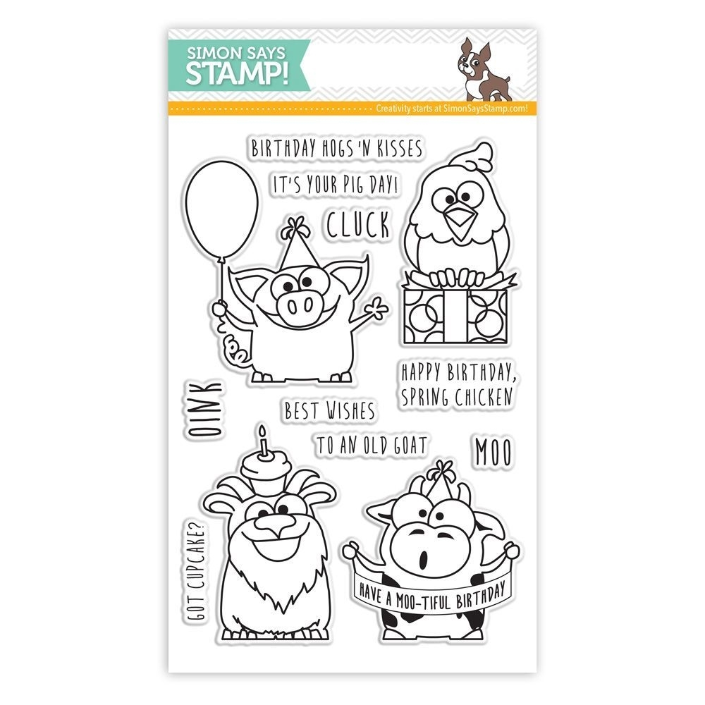 Simon Says Clear Stamps BIRTHDAY FARM ANIMALS sss101430 zoom image