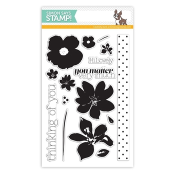 Simon Says Clear Stamps FRIENDLY FLOWERS sss101432 *